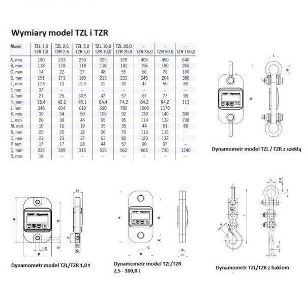 Tigrip TZR - dynamometr elektroniczny