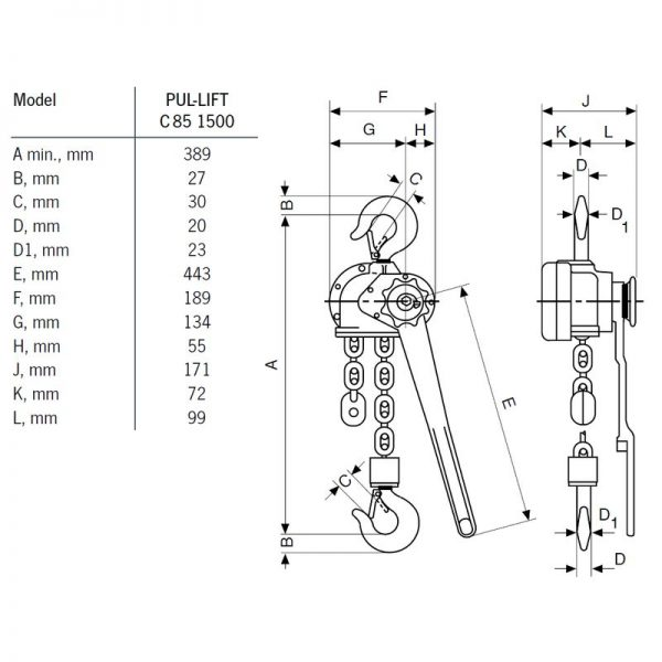 Yale C85 - wciągnik łańcuchowy ręczny