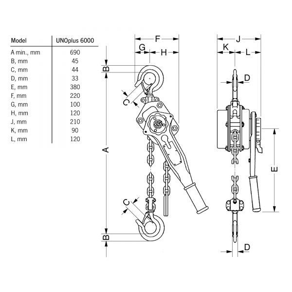 Yale PT - wciągnik łańcuchowy ręczny