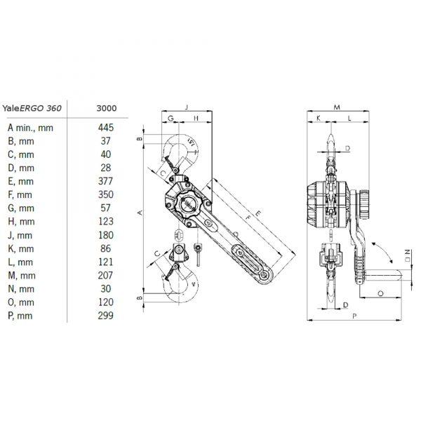 YaleERGO 360 - wciągnik łańcuchowy ręczny