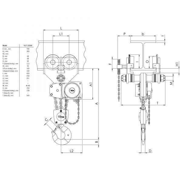 Yalelift ITG - wciągnik łańcuchowy ręczny
