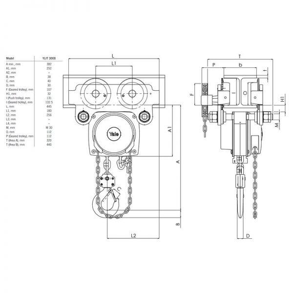 Yalelift ITP - wciągnik łańcuchowy ręczny