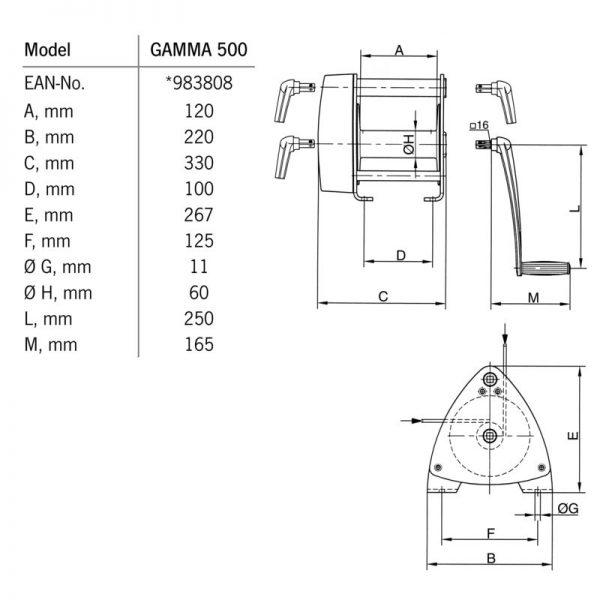 Yale Pfaff SW-K GAMMA - wciągarka korbowa linowa
