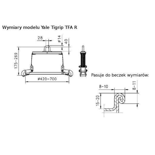 Yale Tigrip TFA 0,35/700 R - chwytak do beczek