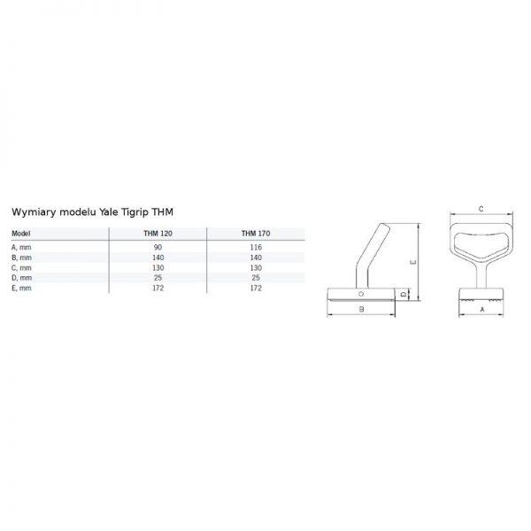 Yale Tigrip THM - chwytak magnetyczny do blach