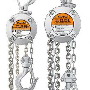 KITO CX - wciągnik łańcuchowy ręczny z aluminiowym korpusem