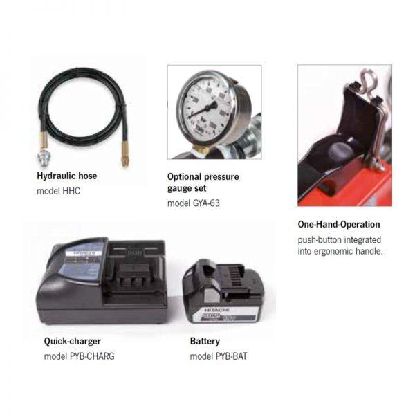 Yale PYB - akumulatorowa pompa hydrauliczna 700 bar