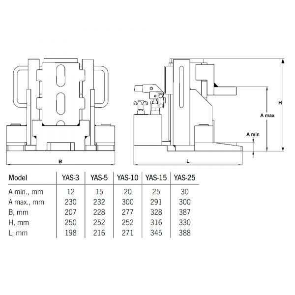 Yale YAS - podnośnik hydrauliczny