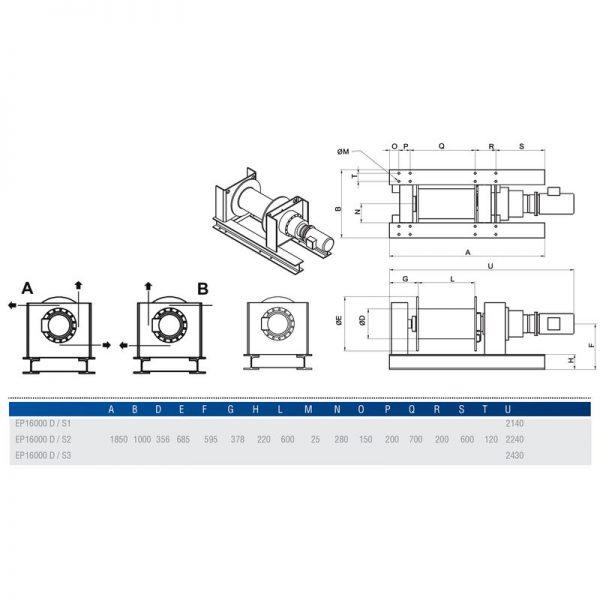 Gebuwin EP16000 - wciągarka linowa elektryczna