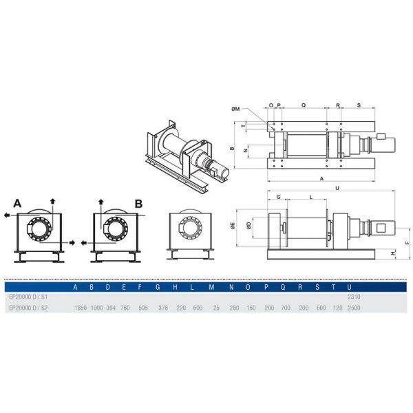 Gebuwin EP20000 - wciągarka linowa elektryczna