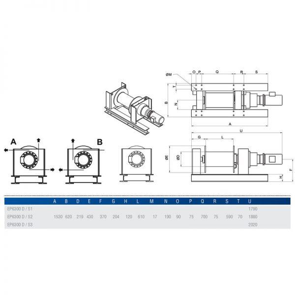 Gebuwin EP6300 - wciągarka linowa elektryczna