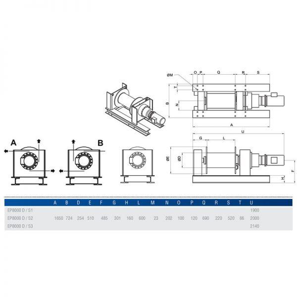 Gebuwin EP8000 - wciągarka linowa elektryczna