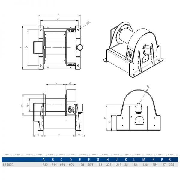 Gebuwin LS5000 - wciągarka linowa elektryczna