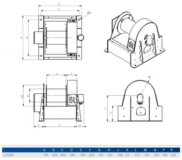 Gebuwin LS3000 - wciągarka linowa elektryczna